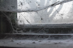 Old filthy barn window Stock Image