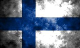 Old Finland grunge background flag.  Royalty Free Stock Image