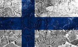 Old Finland grunge background flag.  stock images