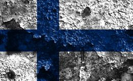 Old Finland grunge background flag.  Royalty Free Stock Images
