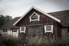 Old Finnish barn Royalty Free Stock Photo