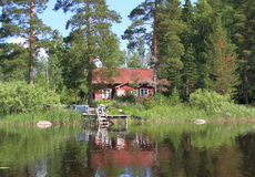 Finland/Savonia: Old Cabin Stock Images