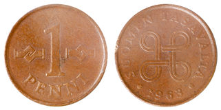 Old finnish coin Stock Images