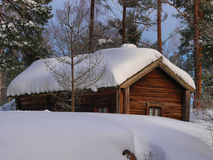 Old Finnish farm house Royalty Free Stock Image