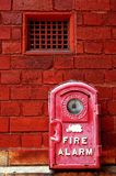 Old fire alarm Royalty Free Stock Image