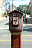 Old fire alarm box Royalty Free Stock Photos