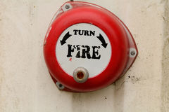Old fire alarm with hand winder Royalty Free Stock Photos