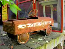 Old fire chief toy vehicle Stock Images
