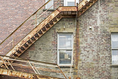 Old fire escape staircase Royalty Free Stock Photography