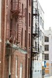 Old Fire Escapes Stock Photo