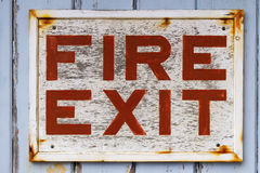 Old Fire Exit sign Stock Photos