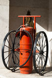 Old fire extinguisher Stock Images