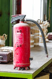 Old fire extinguisher Royalty Free Stock Photo