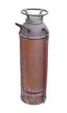 Old fire extinguisher isolated. Royalty Free Stock Photography