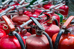 Old fire extinguishers Royalty Free Stock Photos
