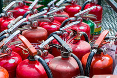 Old fire extinguishers Royalty Free Stock Image