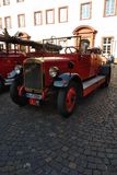 Old fire fighter car stock image