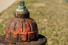 Old fire hydrant. Close up of old, weathered fire hydrant Royalty Free Stock Image
