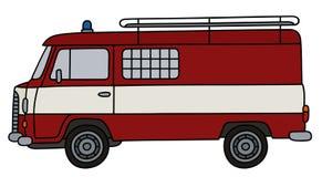 Old fire patrol minivan Stock Photo