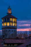 Old fire rescue watch tower in Bucharest Romania Royalty Free Stock Photos