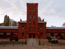 Factory fire station. The historic fire station on the outskirts of Priests mill in Lodz Royalty Free Stock Image