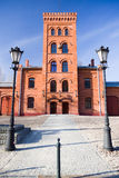 Old fire-station in Lodz. Poland Stock Photography