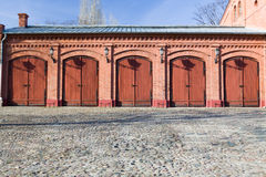 Old fire-station in Lodz Stock Photo