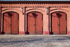 Old fire-station in Lodz Royalty Free Stock Image