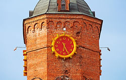 Old fire tower with clock (1911), Vinnytsia Stock Image