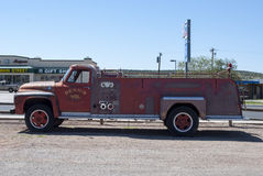 Old Fire Truck. On historic Route 66. Arizona (United States Stock Image