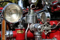 Old Fire Truck. Close up of an old fire truck Royalty Free Stock Photo