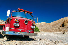 Old fire truck in Death Valley. Stock Photos