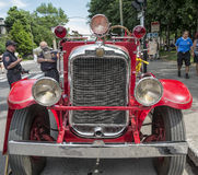 Old fire truck. Street fair in Little Italy, Montreal Stock Image