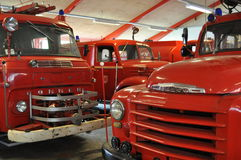 Old Fire Trucks. In a museum in Denmark Royalty Free Stock Image