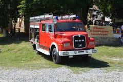 Old firecar in the village Crit, Transylvania Royalty Free Stock Image