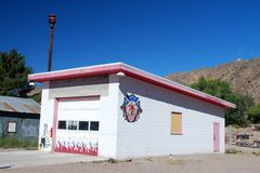 OLD FIREHOUSE. Caliente Nevada old volunteer firehouse Stock Image