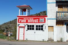 OLD FIREHOUSE. Pioche Nevada original volunteer firehouse Royalty Free Stock Image