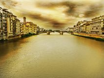 Firenze. Old Firenze bridge Royalty Free Stock Photography