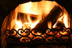 Old fireplace Royalty Free Stock Photos
