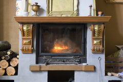 Old fireplace Stock Image