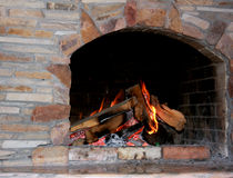 Old Fireplace Stock Photography