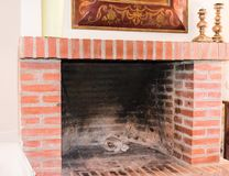 Old fireplace in country house. In spain royalty free stock photography