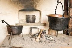 Old fireplace Stock Photos