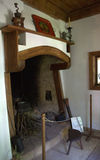 Old fireplace in Revival Bulgarian house Stock Photo