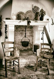 Old fireplace used for cooking Royalty Free Stock Photography