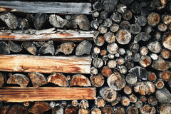 Old Fireplace wood Stock Images