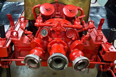 Old firetruck pipe system Royalty Free Stock Images