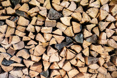 Old firewood stacked Stock Photos