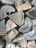 Old firewood wood pile Stock Images