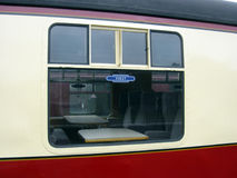 Old First Class Carriage. First Class Carriage on a vintage British steam train Stock Image